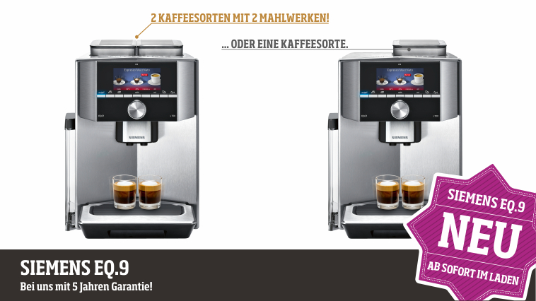 Biebrach Dorr Neu Im Sortiment Siemens Eq 9 Vollautomat
